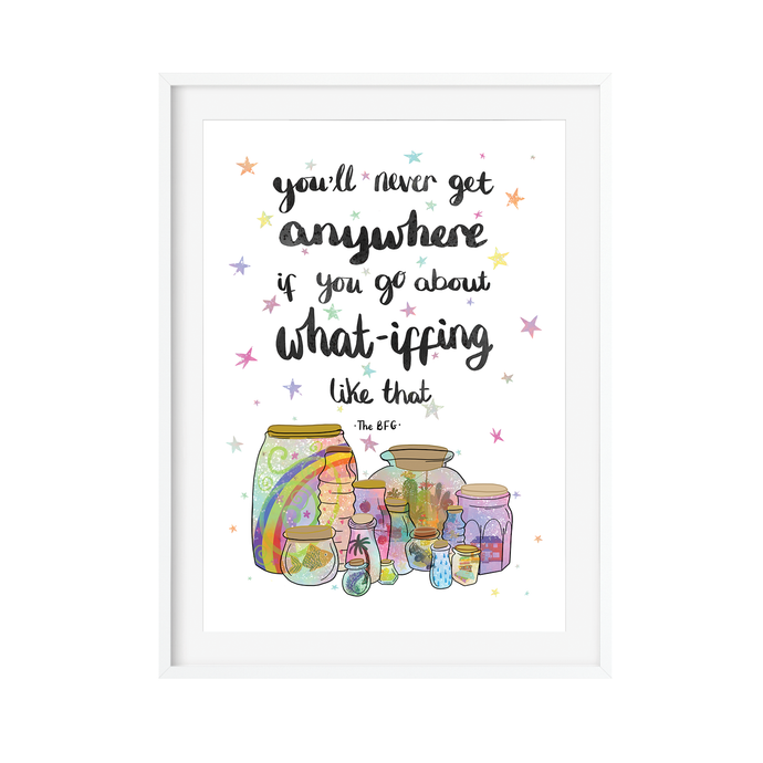 BFG Quote Illustration Print