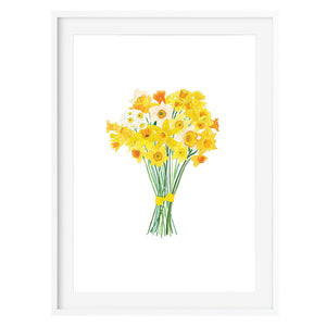 Daffodils Floral Art Print - Poppins & Co.
