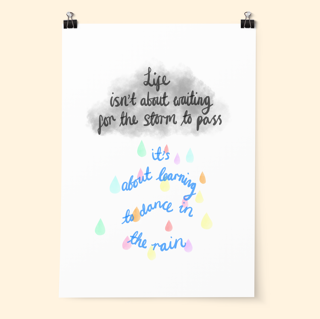 Dance In The Rain Print - Poppins & Co.