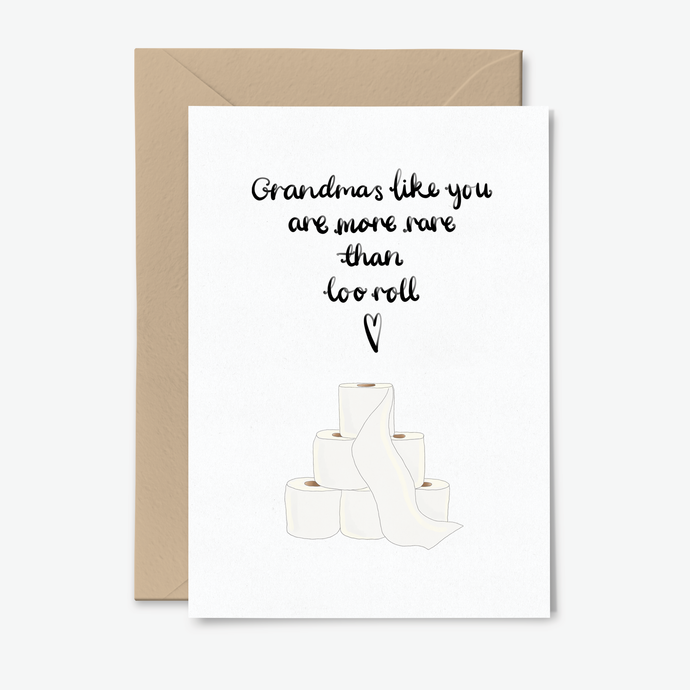 Funny Quarantine Loo Roll Card For Grandma - Letters From Lockdown Collection - Poppins & Co.