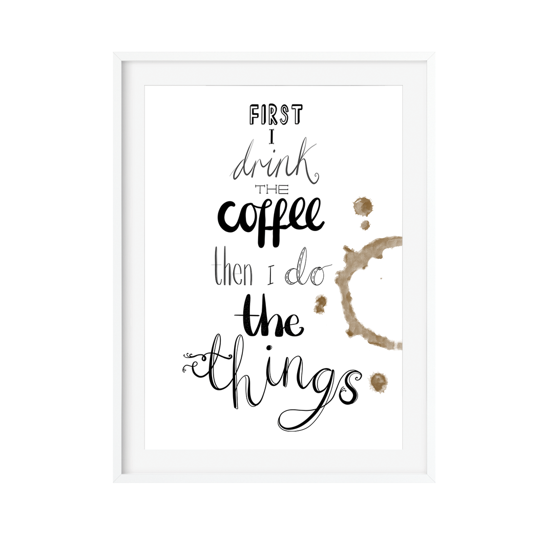 Gilmore Girls Coffee Quote Print - Poppins & Co.