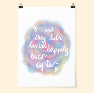 Happily Ever After Pastel Print - Poppins & Co.