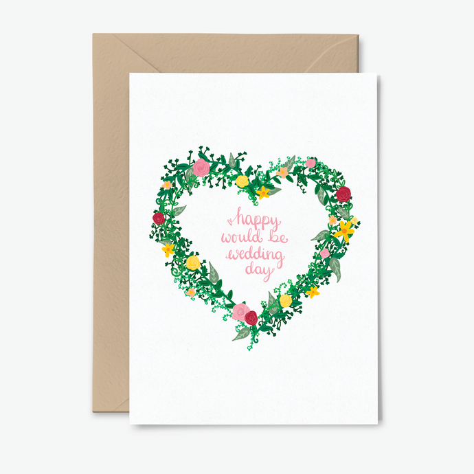 Postponed Wedding Day Card With Flowers - Poppins & Co.