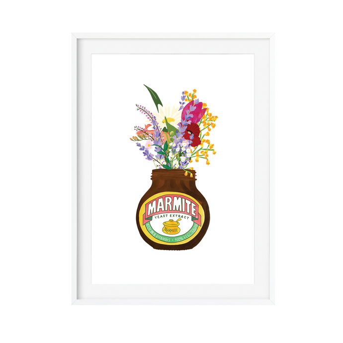 Marmite Flowers Art Print - Poppins & Co.