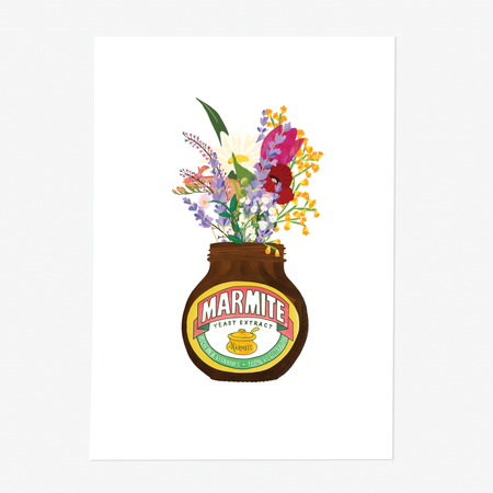 Marmite Flowers Art Print Without Frame - Poppins & Co.
