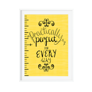 Mary Poppins Practically perfect print by Poppins & Co.