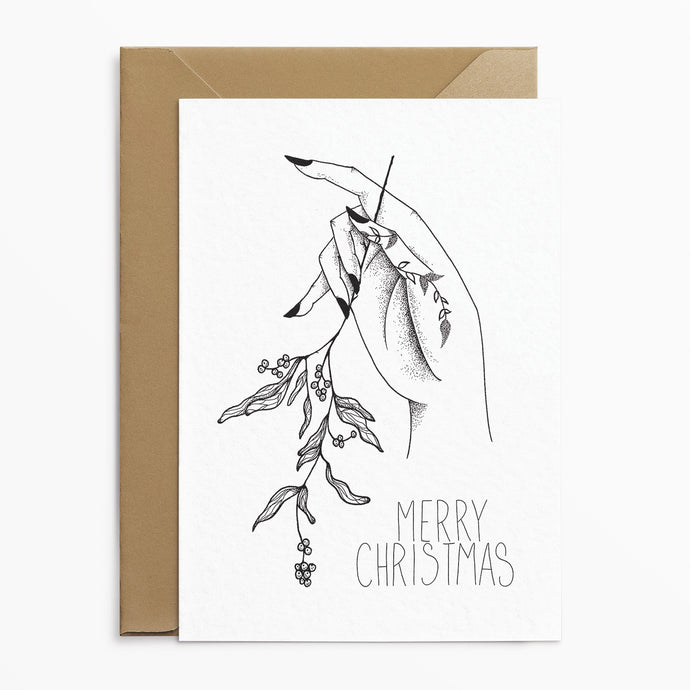 Mistletoe - Alternative Christmas Card - Josephine Nova x Poppins & Co.