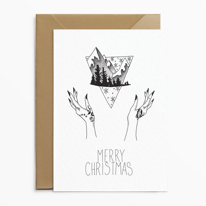 Mountains - Alternative Christmas Card - Josephine Nova x Poppins & Co.