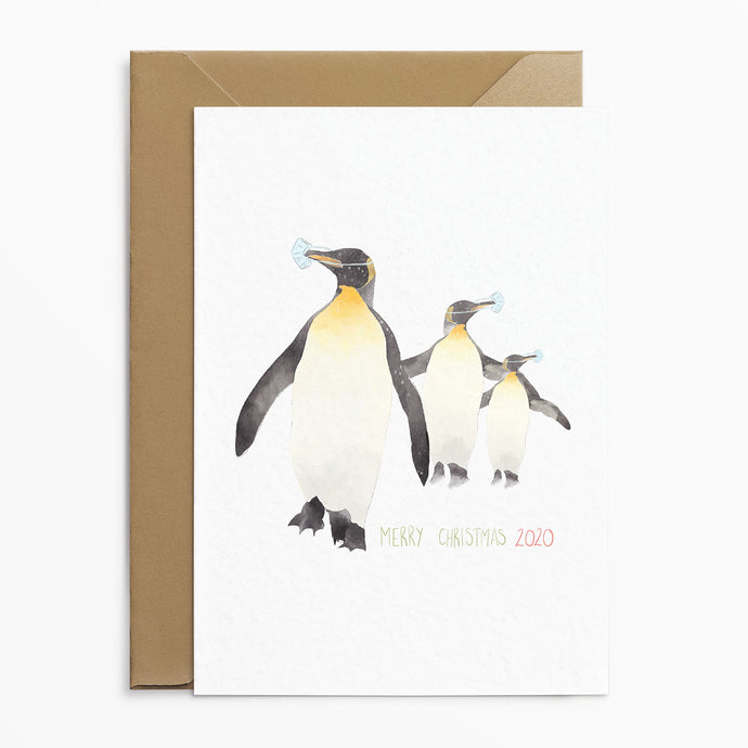 Masked Penguins - Christmas Cards - Phoebe Florence x Poppins & Co.