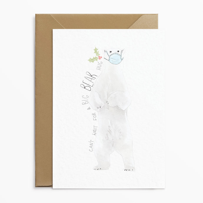 Polar Bear Hug Christmas Card