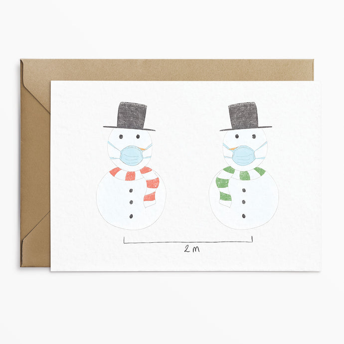 Socially Distanced Snowman Christmas Cards - Phoebe Florence x Poppins & Co.