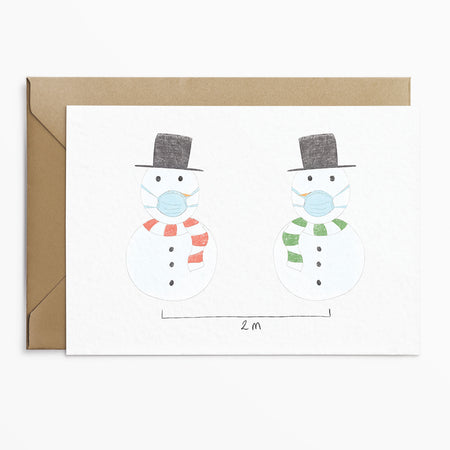 Phoebe Florence x Poppins & Co - Lockdown Snowman Christmas Card - Poppins & Co.