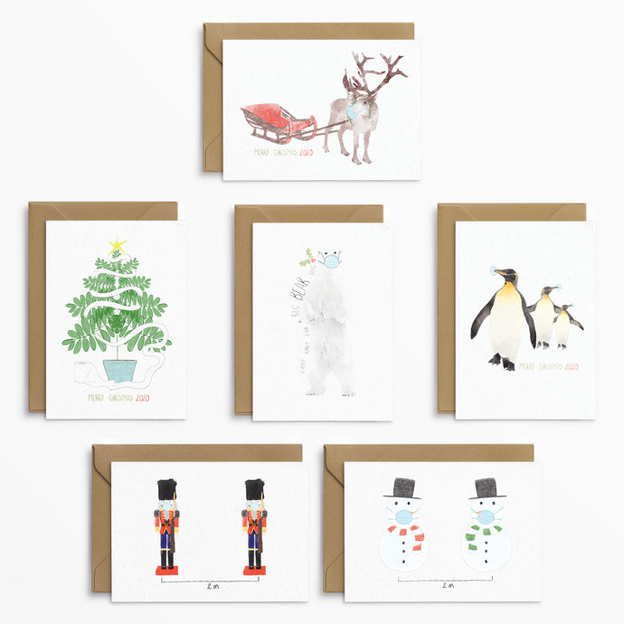 Phoebe Florence x Poppins & Co - Winter Lockdown Christmas Card Set - Poppins & Co.