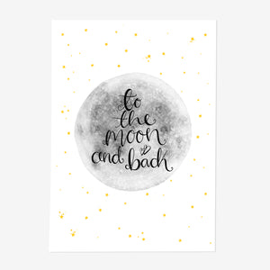 To The Moon And Back Print - Poppins & Co.
