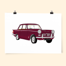 Custom Car Portrait Art Print - Poppins & Co.