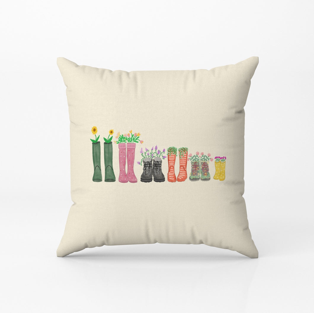 Welly Boots Family Cushion - Poppins & Co.