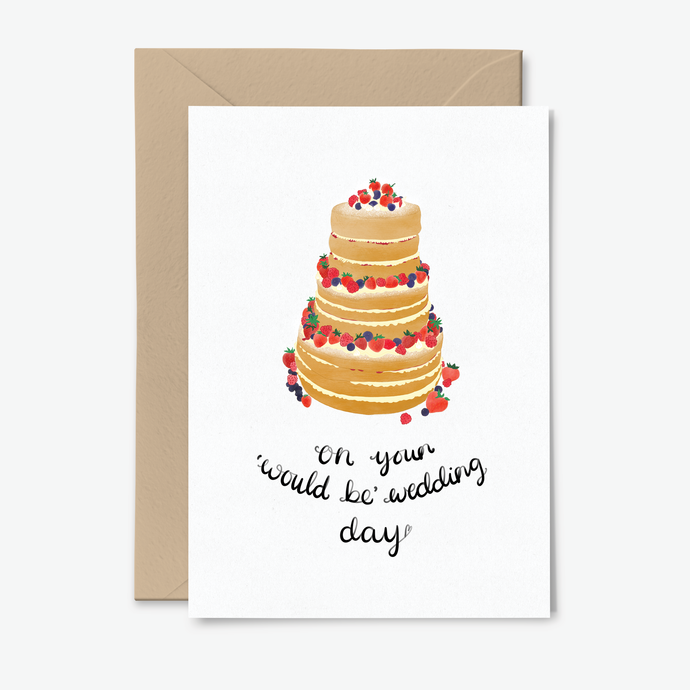 Postponed Wedding Day Cake Card - Poppins & Co.