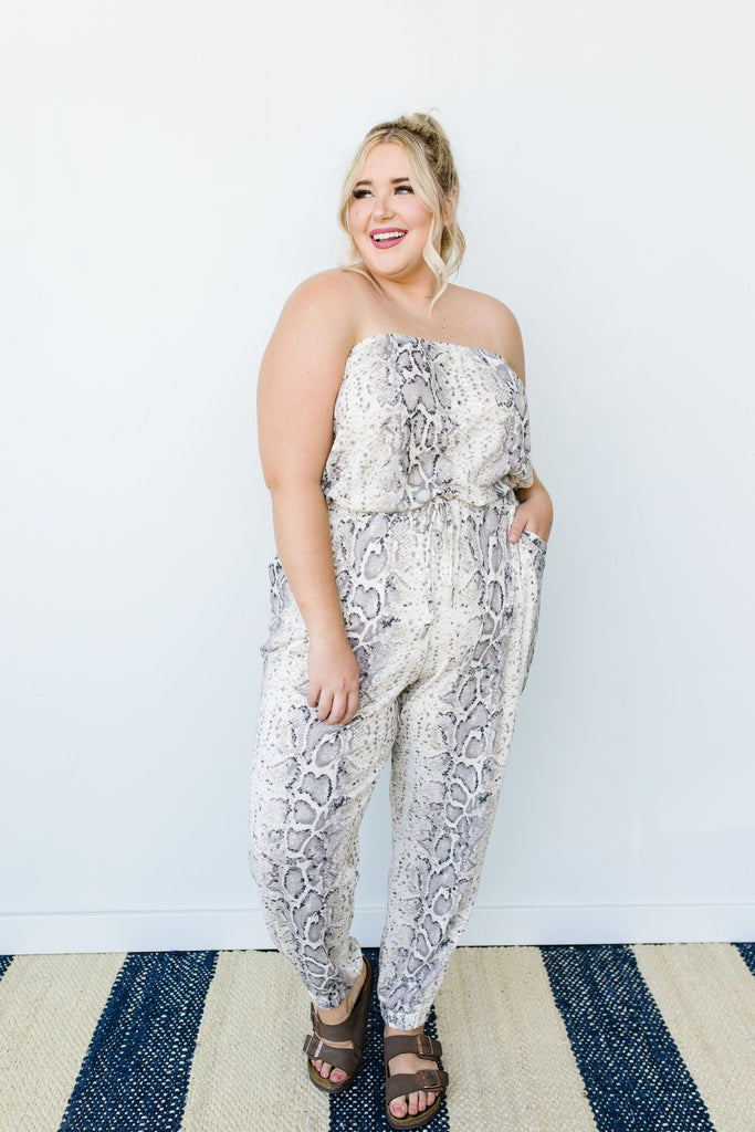 Long & Lean Snakeskin Jumpsuit