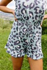 Pale Blue Kitty Romper
