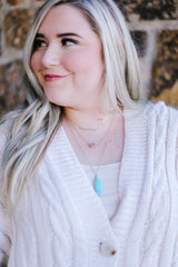 The Trifecta Statement Necklace In Turquoise