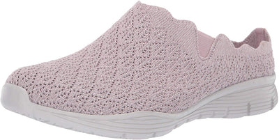 Skechers Women's Seager-Westlake-Scalloped Engineered Knit Open Back Mule