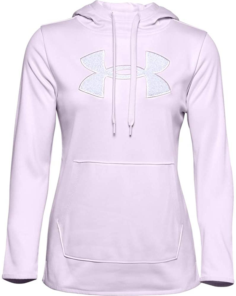 Under Armour Women's Fleece Big Logo Chenille/Shine Hoodie