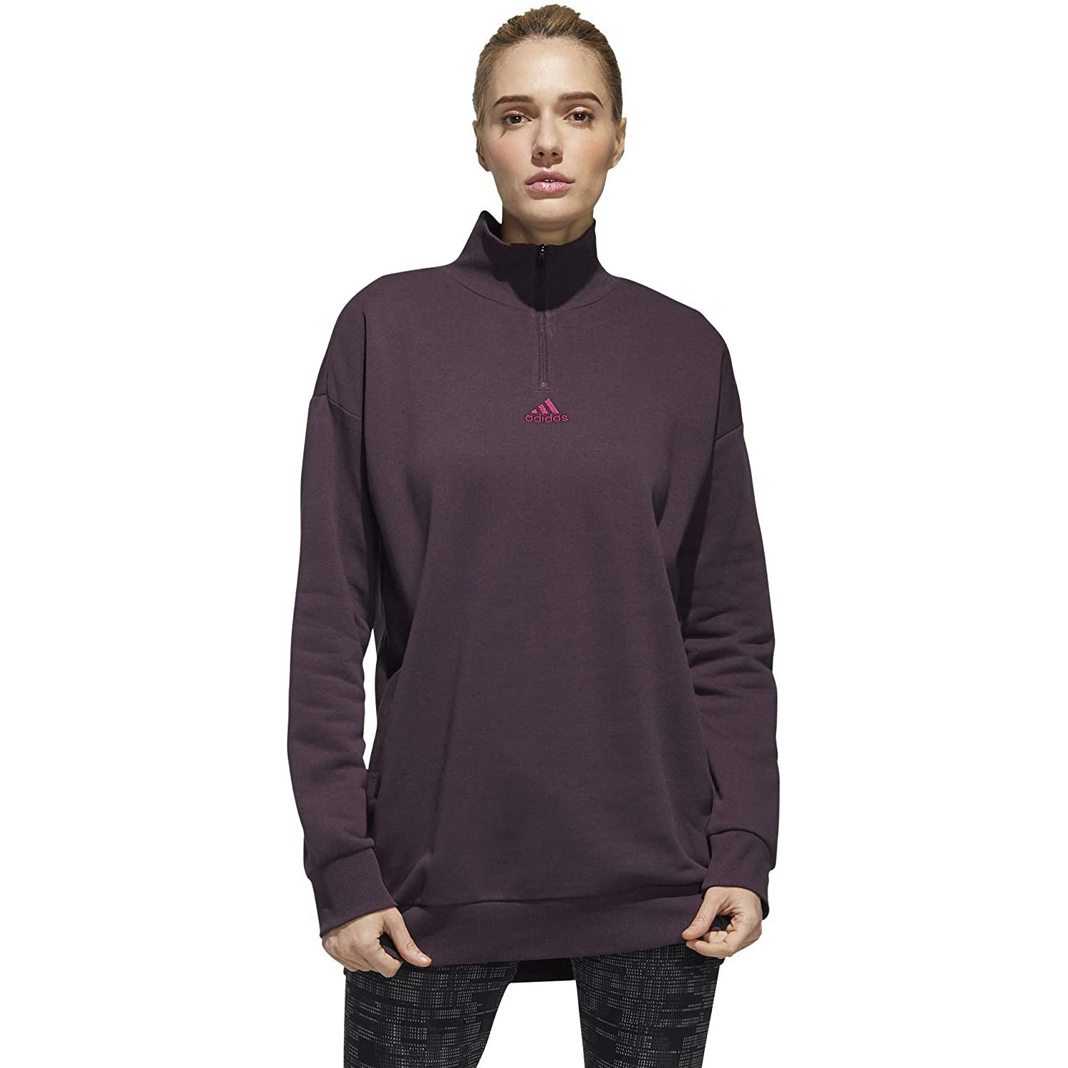 adidas Womens Essentials Comfort Elongated 1/4 Zip