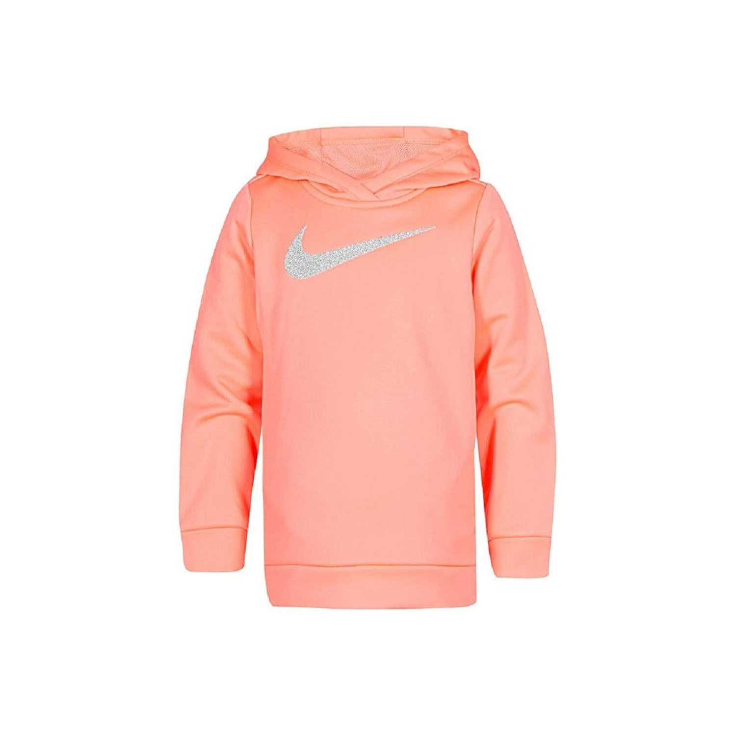 Nike Therma Girls Ashen Slate Gray Swoosh Hoodie Sweatshirt Jacket Dri-fit