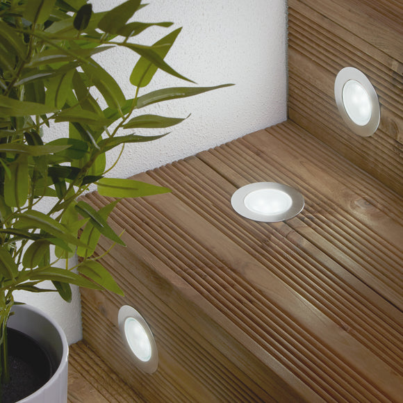 Round decking lights