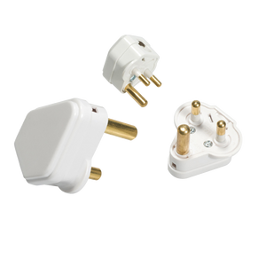 ML Accessories-132A 2A Round Pin Plug Top - White