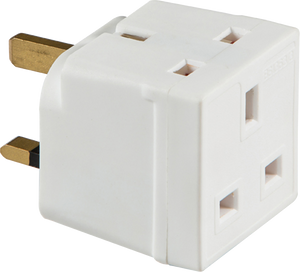 ML Accessories-1350 13A 2-Way Mains Unfused Adaptor