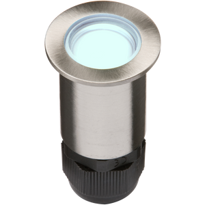 ML Accessories-4IPB IP67 24V Small Stainless Steel Ground Fitting 4 x Blue LED