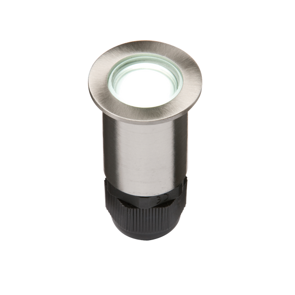 ML Accessories-4IPW IP67 24V Small Stainless Steel Ground Fitting 4 x White LED