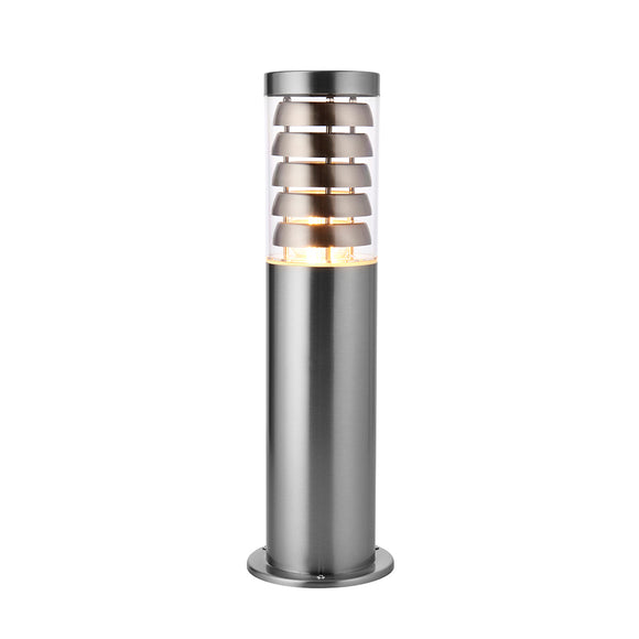 Endon Lighting 91813 Tangley 1Lt Floor Brushed Stainless Steel & Clear Pc