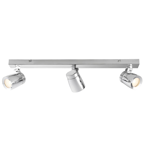 Endon Lighting 91817 Rook 3Lt Spot Chrome Plate & Clear Glass