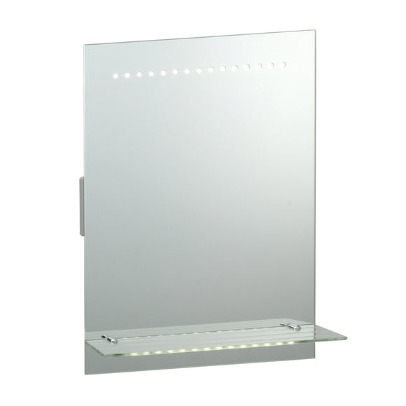 Endon Lighting 91818 Delta 30Lt Wall Mirrored Glass & Matt Silver Paint