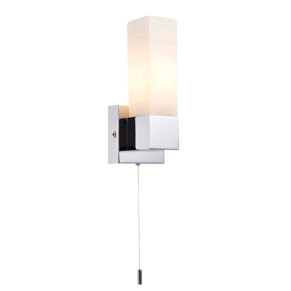 Endon Lighting 91819 Stroud 1Lt Wall Chrome Plate & Opal Glass