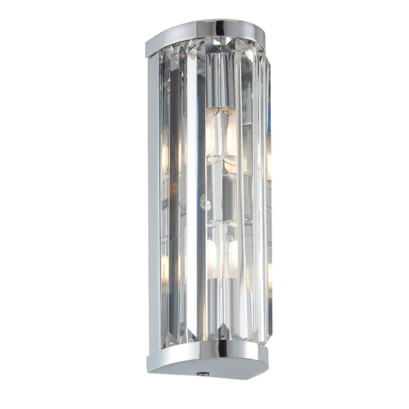 Endon Lighting 91820 Shimmer 2Lt Wall Chrome Plate & Clear Crystal