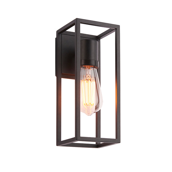 Endon Lighting 91993 Herbert 1Lt Wall Textured Black