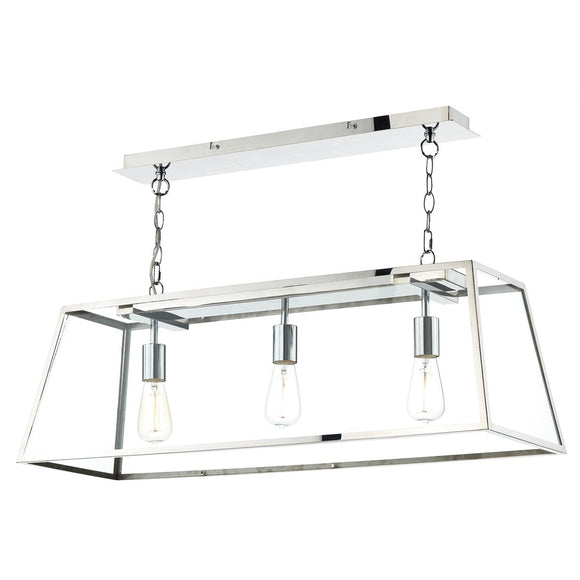 Academy 3 Light Pendant Stainless Steel