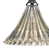 Ardeche 1 Light Fluted Glass Pendant Polished Chrome