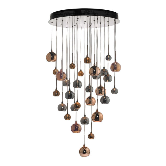 Aurelia 30 Light Cluster Pendant In Copper & Bronze 3M Drop