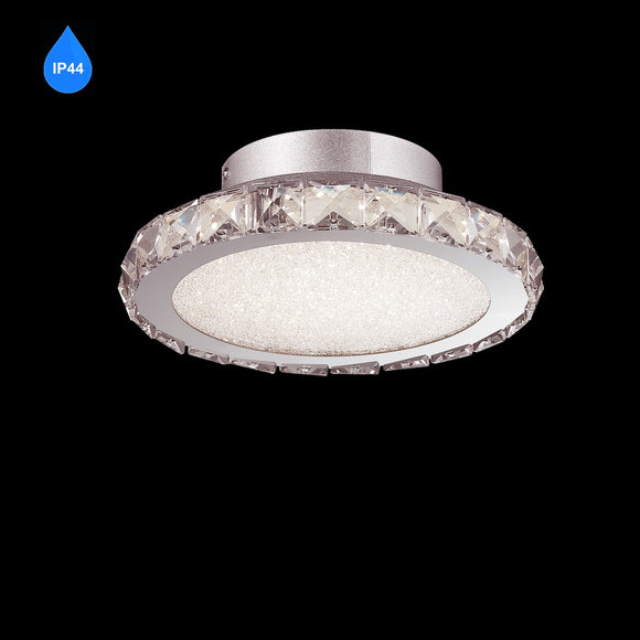 Small LED Flush IP44 12W Integrated LED