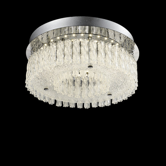 Medium LED Crystal Ceiling Light 18W Integrated LED