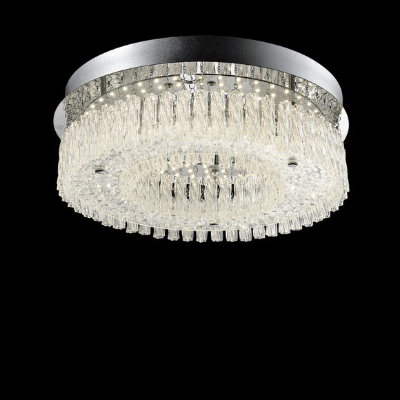 Large LED Crystal Ceiling Light 24W Integrated LED