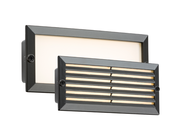 ML Accessories-BLED5BW 230V IP54 5W White LED Recessed Brick Light - Black Fascia