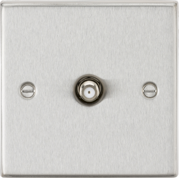 ML Accessories-CS015BC SAT TV Outlet - Square Edge Brushed Chrome