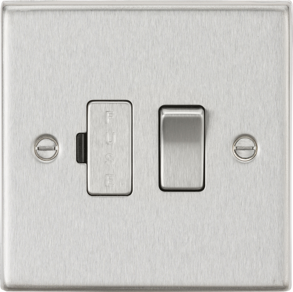 ML Accessories-CS63BC 13A Switched Fused Spur Unit - Square Edge Brushed Chrome