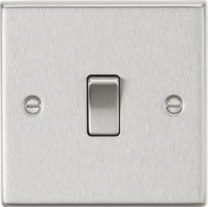ML Accessories-CS834BC 20A 1G DP Switch - Square Edge Brushed Chrome