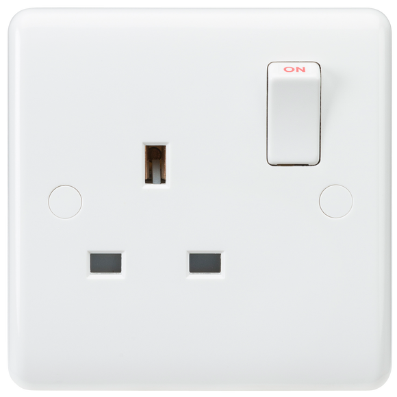 ML Accessories-CU7000S Curved Edge 13A 1G SP Switched Socket